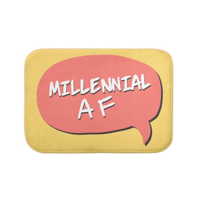 Millennial AF Home Bath Mat by Hello Siyi