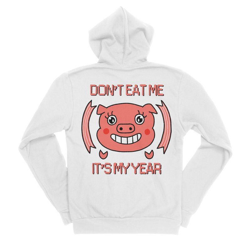 Year of the pig (don't eat me) Women's Sponge Fleece Zip-Up Hoody by Hello Siyi