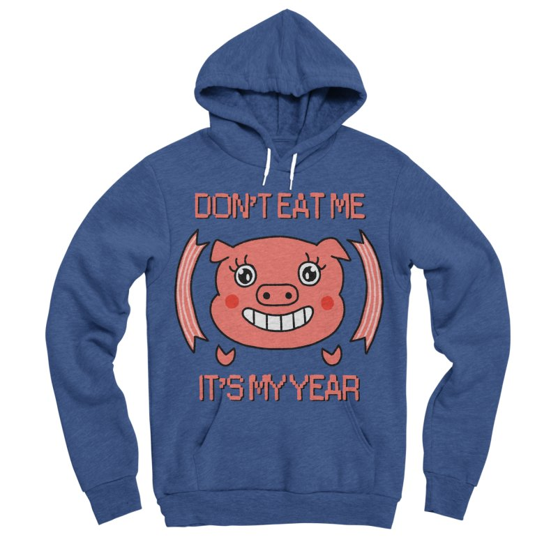 Year of the pig (don't eat me) Men's Sponge Fleece Pullover Hoody by Hello Siyi