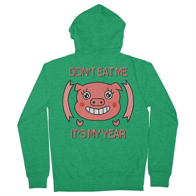 Year of the pig (don't eat me) Women's Zip-Up Hoody by Hello Siyi