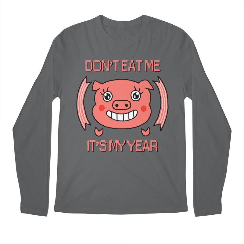 Year of the pig (don't eat me) Men's Longsleeve T-Shirt by Hello Siyi