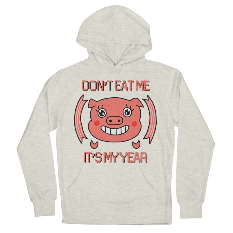 Year of the pig (don't eat me) Women's French Terry Pullover Hoody by Hello Siyi
