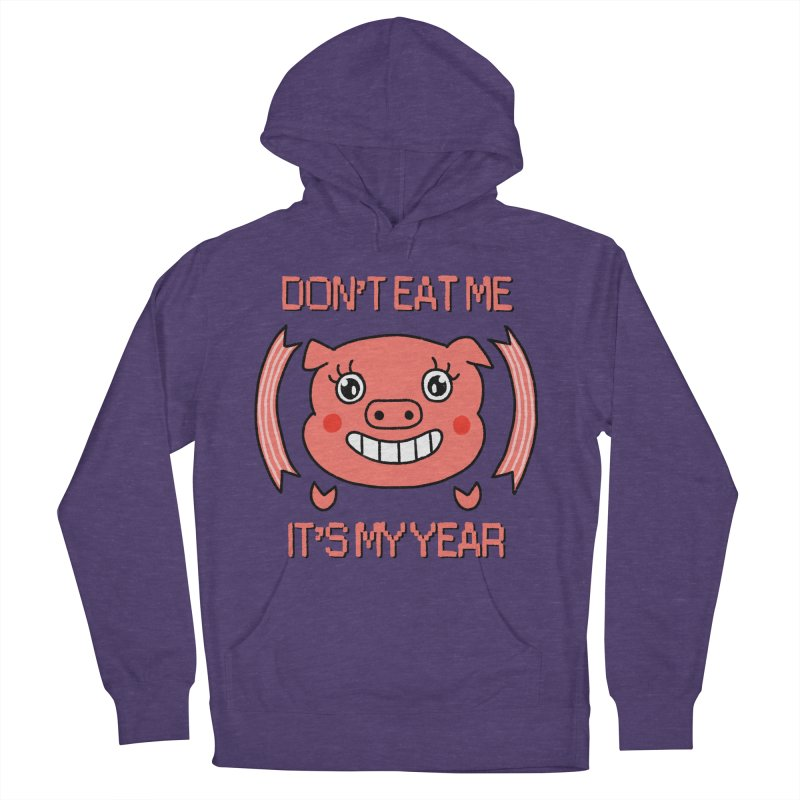 Year of the pig (don't eat me) Men's French Terry Pullover Hoody by Hello Siyi