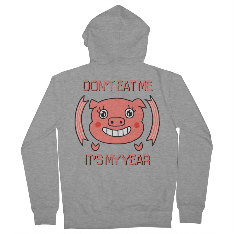 Year of the pig (don't eat me) Women's French Terry Zip-Up Hoody by Hello Siyi