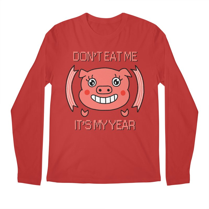 Year of the pig (don't eat me) Men's Regular Longsleeve T-Shirt by Hello Siyi