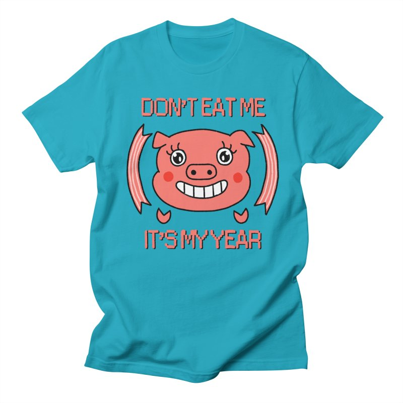 Year of the pig (don't eat me) Men's Regular T-Shirt by Hello Siyi