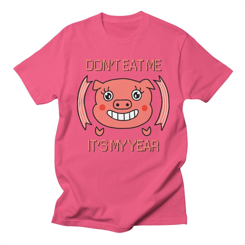Year of the pig (don't eat me) Women's Regular Unisex T-Shirt by Hello Siyi