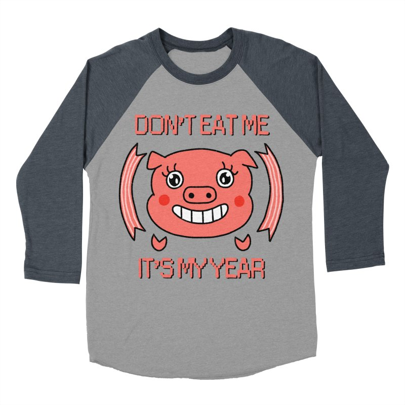 Year of the pig (don't eat me) Women's Baseball Triblend Longsleeve T-Shirt by Hello Siyi
