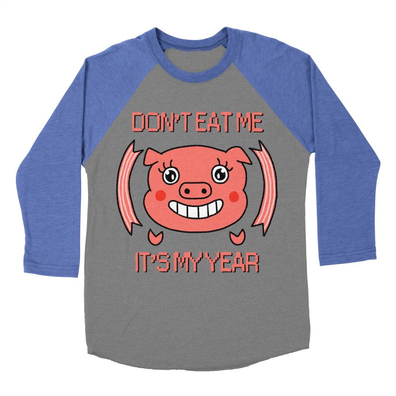Year of the pig (don't eat me) Men's Baseball Triblend Longsleeve T-Shirt by Hello Siyi