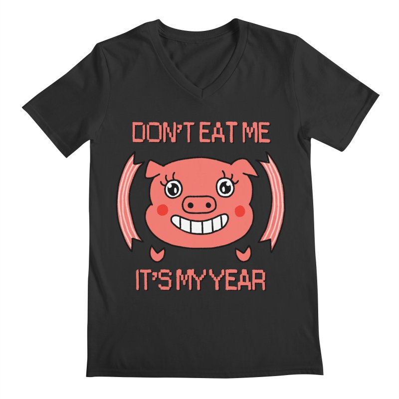 Year of the pig (don't eat me) Men's Regular V-Neck by Hello Siyi