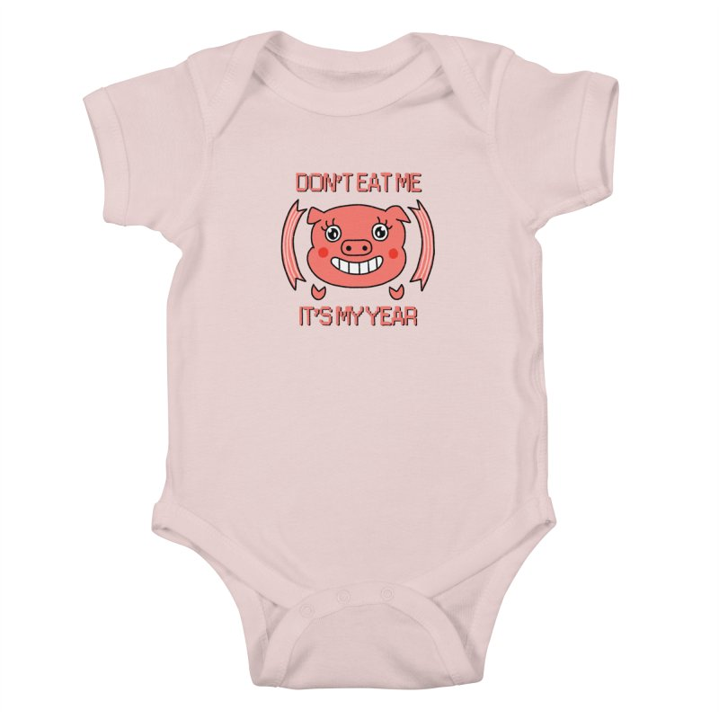 Year of the pig (don't eat me) Kids Baby Bodysuit by Hello Siyi