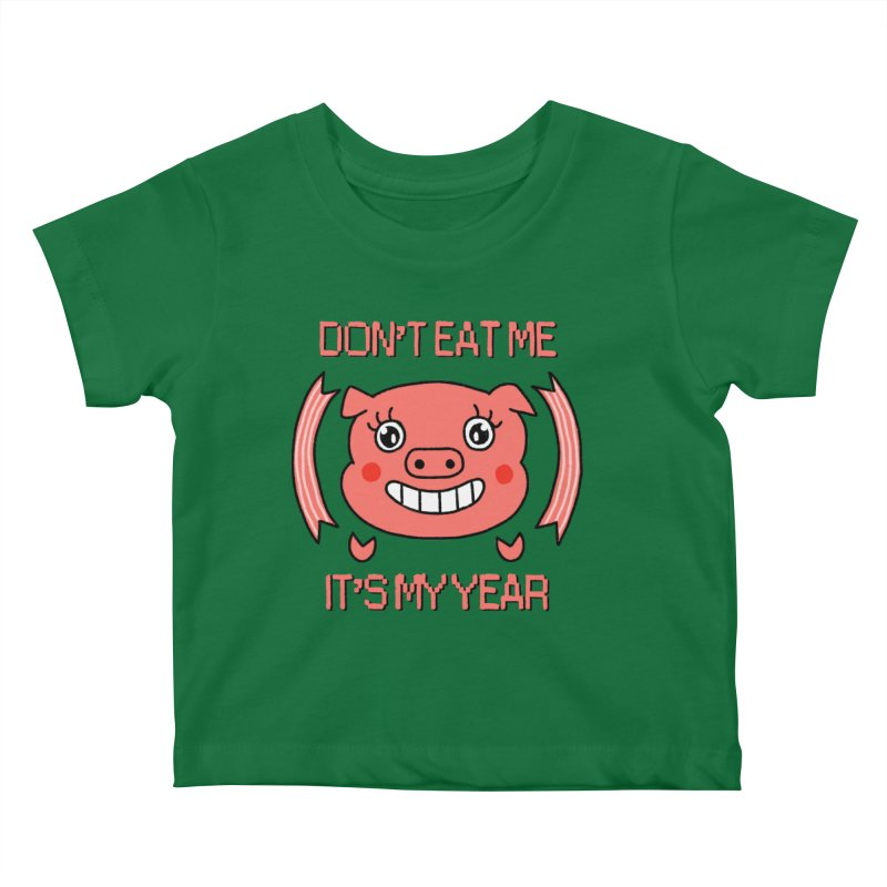 Year of the pig (don't eat me) Kids Baby T-Shirt by Hello Siyi