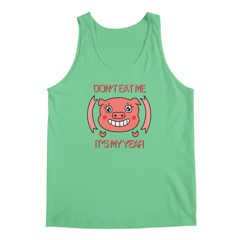 Year of the pig (don't eat me) Men's Regular Tank by Hello Siyi