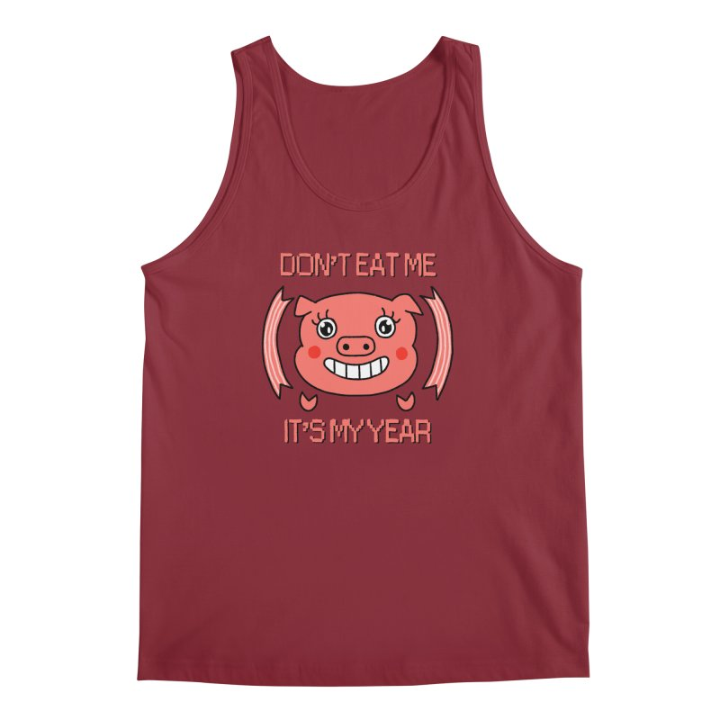Year of the pig (don't eat me) Men's Tank by Hello Siyi