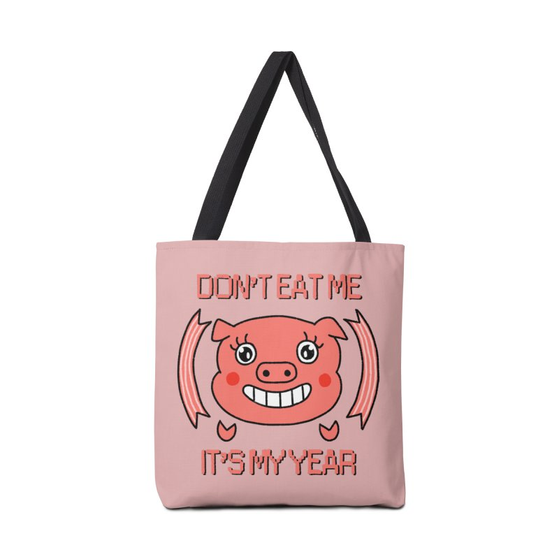 Year of the pig (don't eat me) Accessories Tote Bag Bag by Hello Siyi