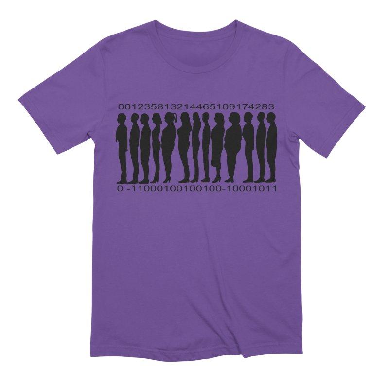 Human Barcode Men's Extra Soft T-Shirt by Hello Siyi