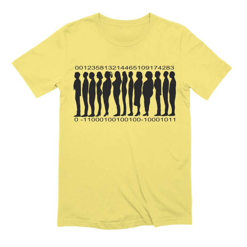 Human Barcode Men's Extra Soft T-Shirt by Hello Siyi