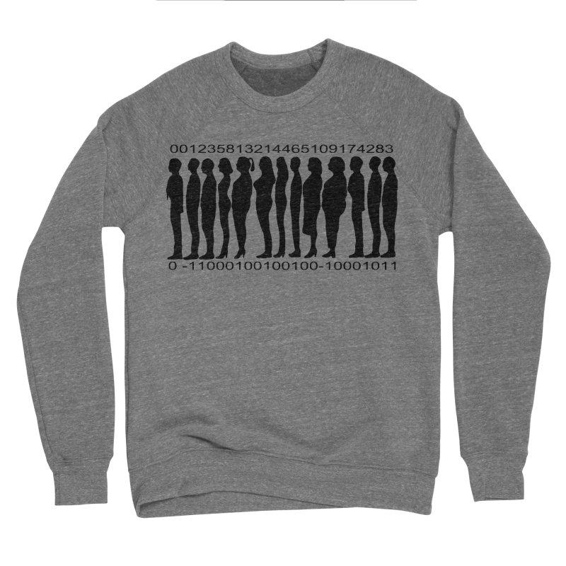 Human Barcode Women's Sponge Fleece Sweatshirt by Hello Siyi