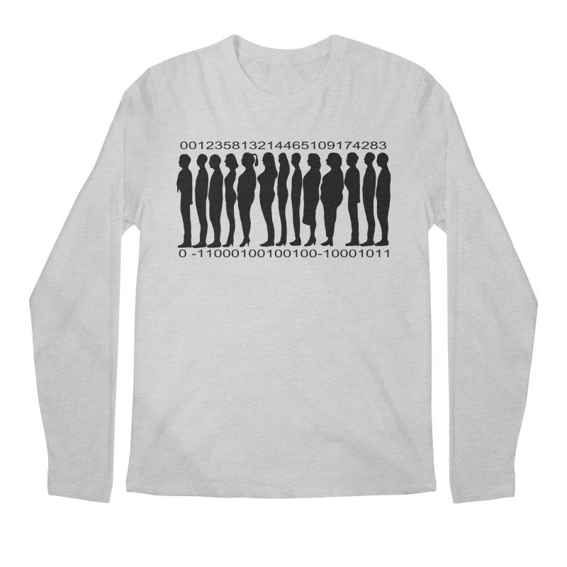 Human Barcode Men's Regular Longsleeve T-Shirt by Hello Siyi