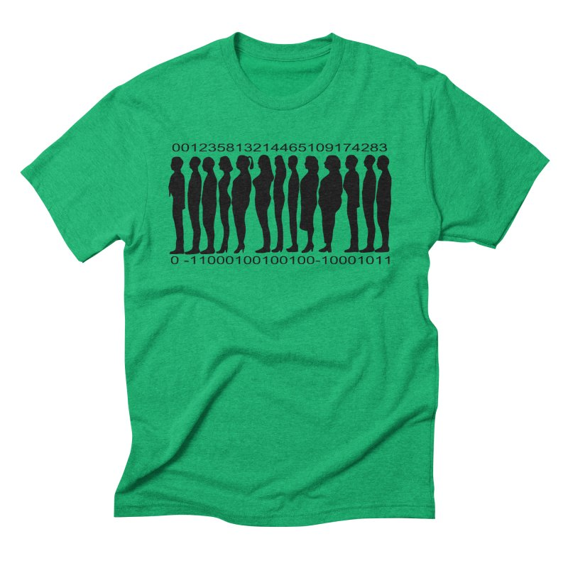 Human Barcode Men's Triblend T-Shirt by Hello Siyi