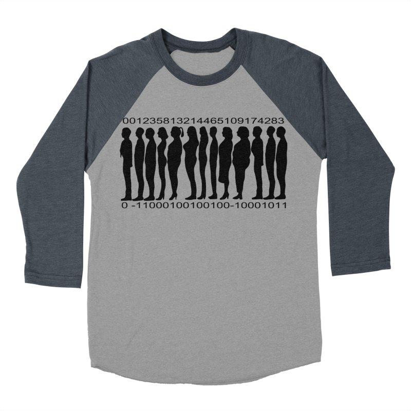 Human Barcode Men's Baseball Triblend Longsleeve T-Shirt by Hello Siyi