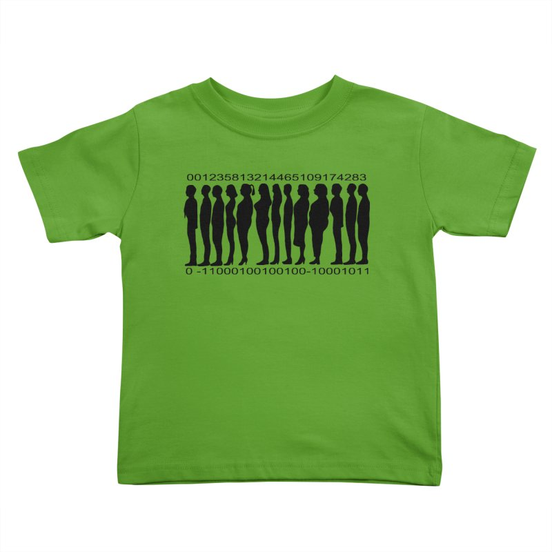 Human Barcode Kids Toddler T-Shirt by Hello Siyi