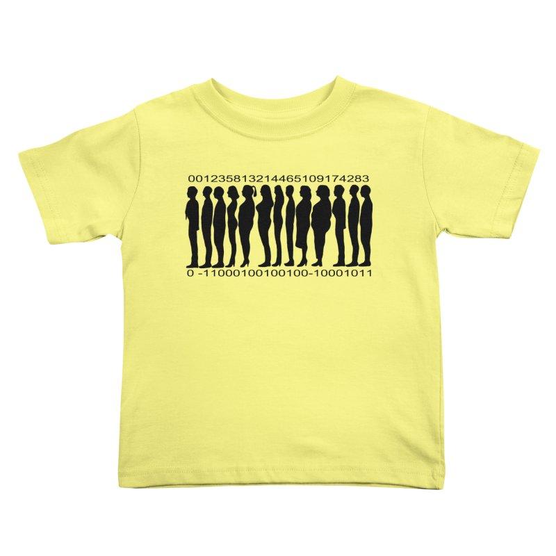 Human Barcode Kids Toddler T-Shirt by Hello Siyi