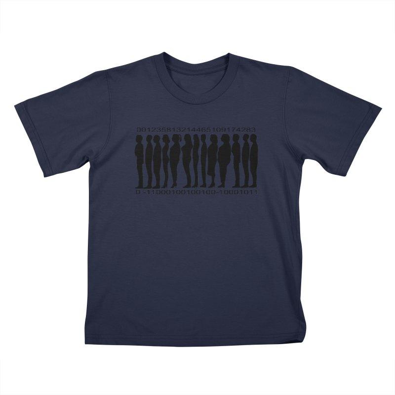 Human Barcode Kids T-Shirt by Hello Siyi