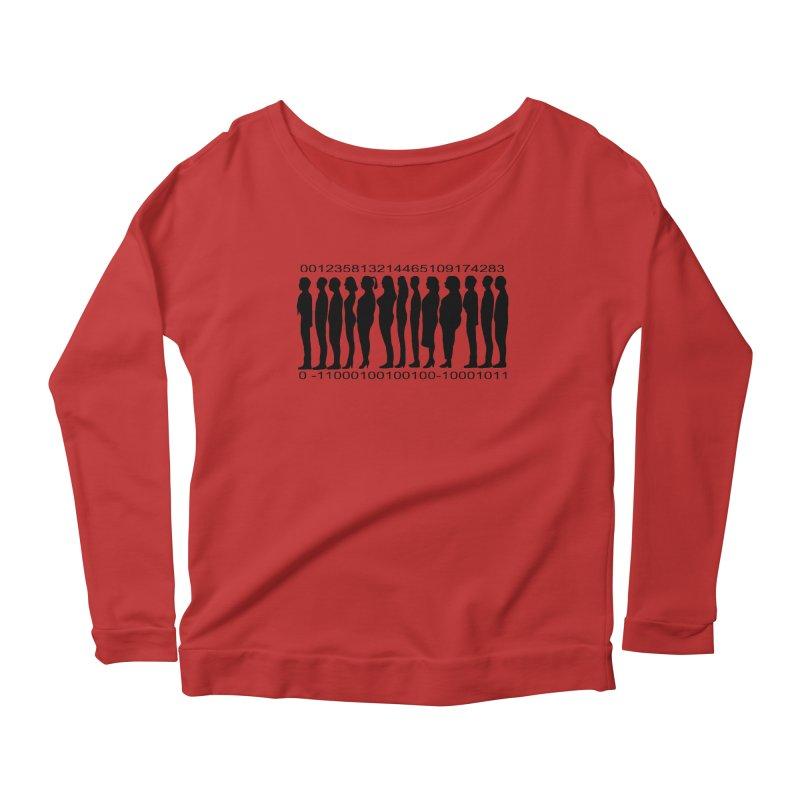 Human Barcode Women's Scoop Neck Longsleeve T-Shirt by Hello Siyi
