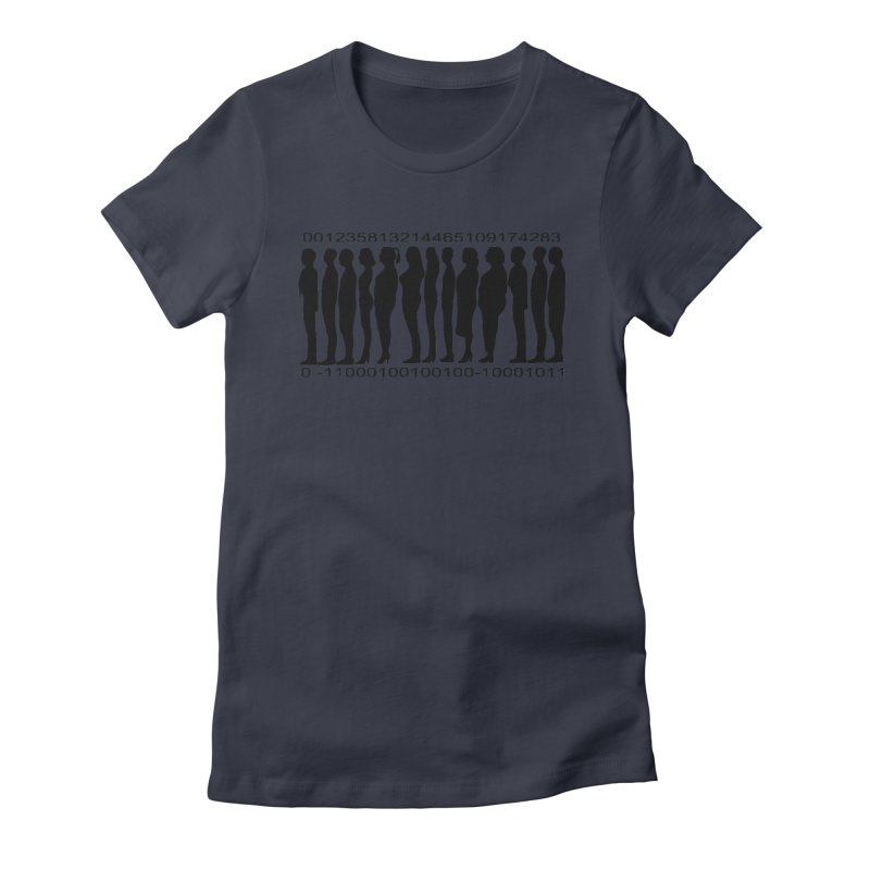 Human Barcode Women's Fitted T-Shirt by Hello Siyi