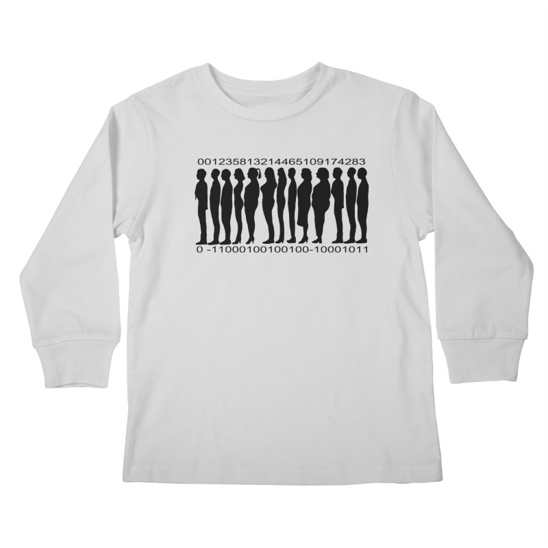 Human Barcode Kids Longsleeve T-Shirt by Hello Siyi