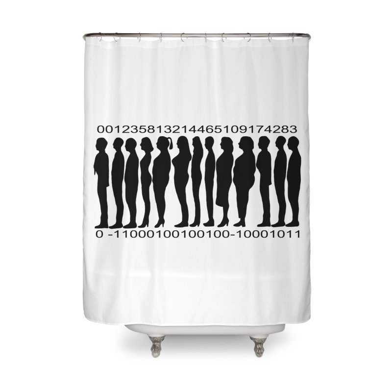 Human Barcode Home Shower Curtain by Hello Siyi