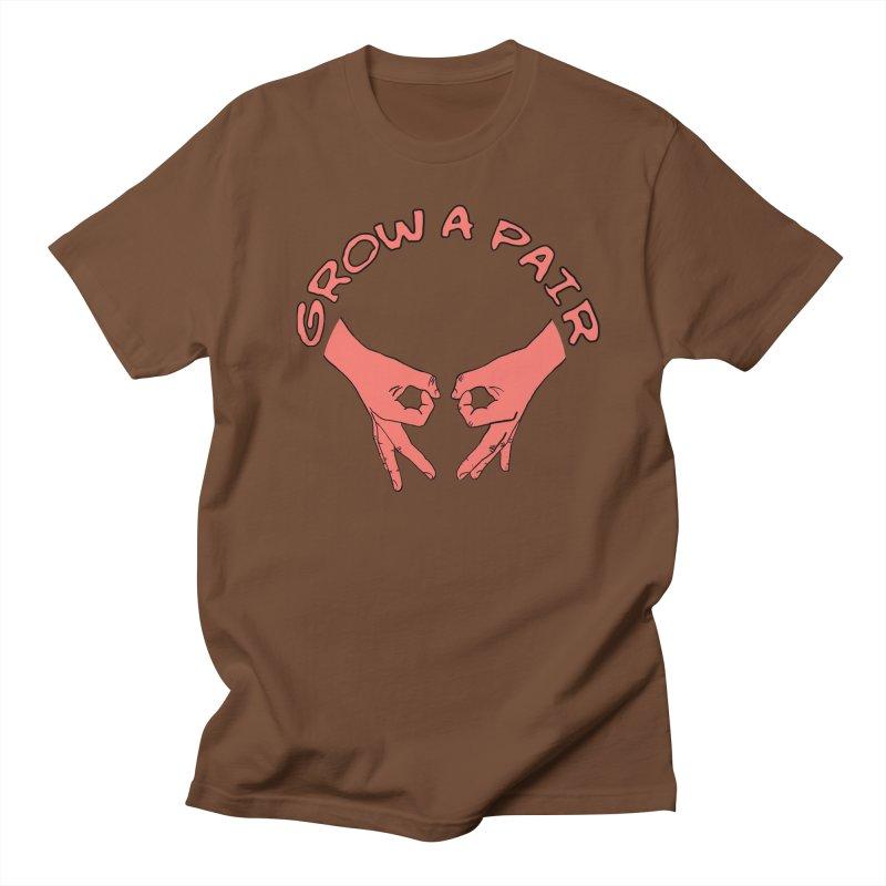 Grow A Pair Women's Regular Unisex T-Shirt by Hello Siyi
