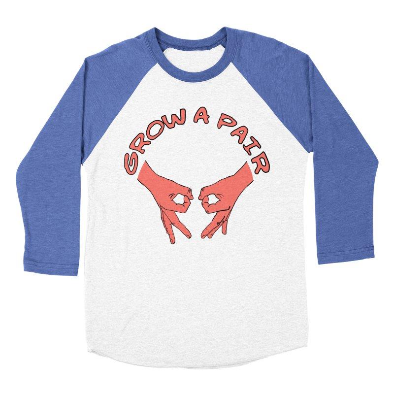 Grow A Pair Women's Baseball Triblend Longsleeve T-Shirt by Hello Siyi