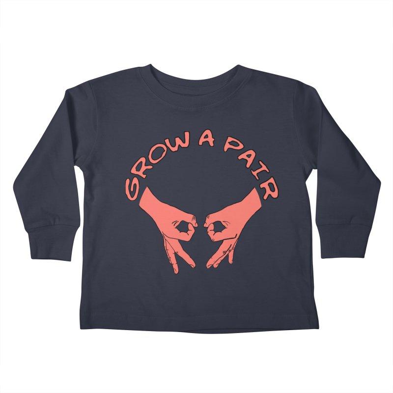 Grow A Pair Kids Toddler Longsleeve T-Shirt by Hello Siyi