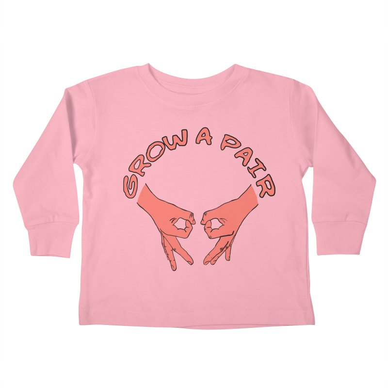 Grow A Pair Kids Toddler Longsleeve T-Shirt by Hello Siyi