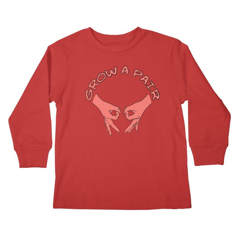 Grow A Pair Kids Longsleeve T-Shirt by Hello Siyi