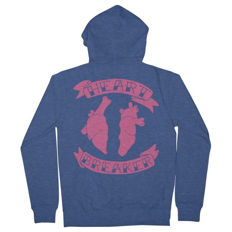 Heart Breaker Men's French Terry Zip-Up Hoody by Hello Siyi