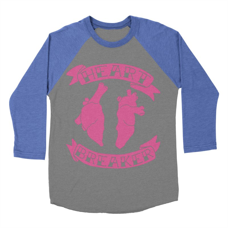 Heart Breaker Women's Baseball Triblend Longsleeve T-Shirt by Hello Siyi