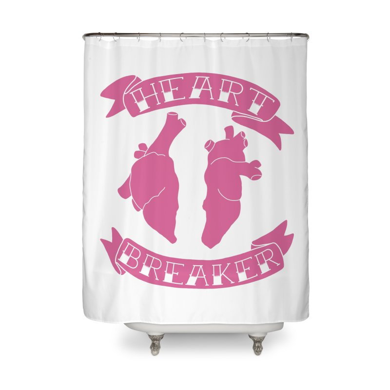 Heart Breaker Home Shower Curtain by Hello Siyi