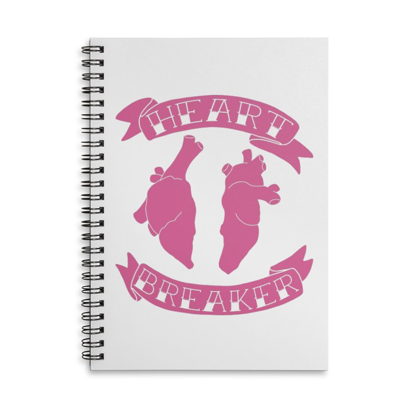 Heart Breaker Accessories Lined Spiral Notebook by Hello Siyi