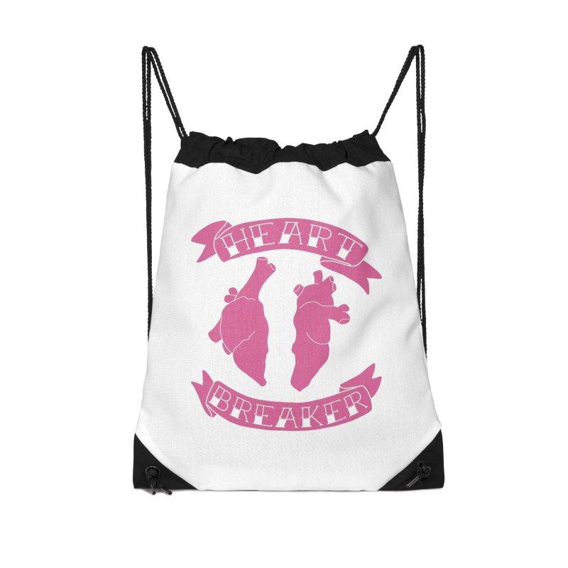 Heart Breaker Accessories Drawstring Bag Bag by Hello Siyi