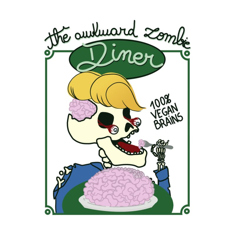 The Awkward Zombie Diner Women's V-Neck by Hello Siyi