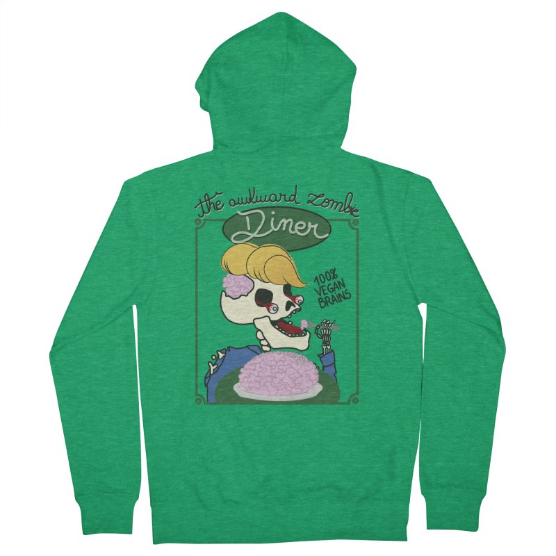 The Awkward Zombie Diner Men's Zip-Up Hoody by Hello Siyi