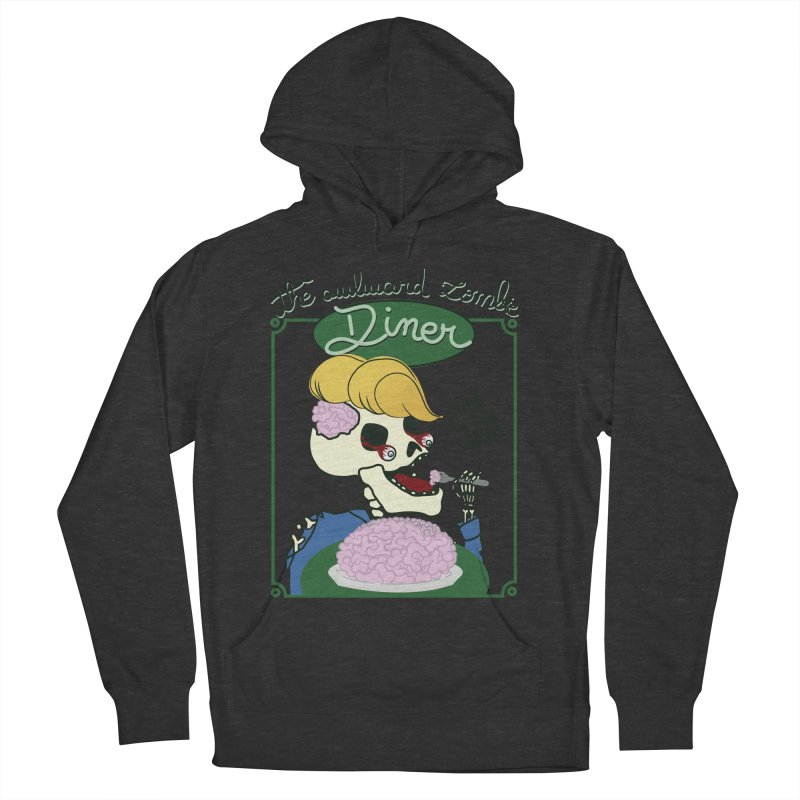 The Awkward Zombie Diner Men's French Terry Pullover Hoody by Hello Siyi