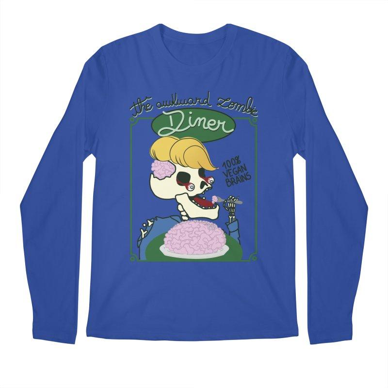 The Awkward Zombie Diner Men's Regular Longsleeve T-Shirt by Hello Siyi