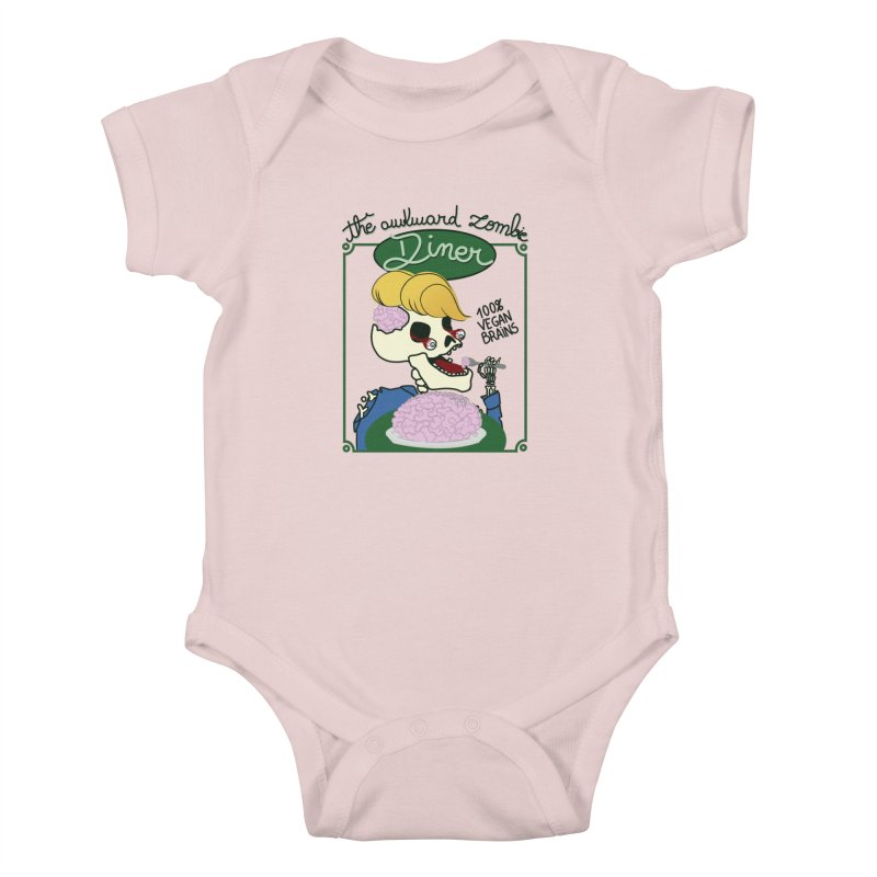 The Awkward Zombie Diner Kids Baby Bodysuit by Hello Siyi