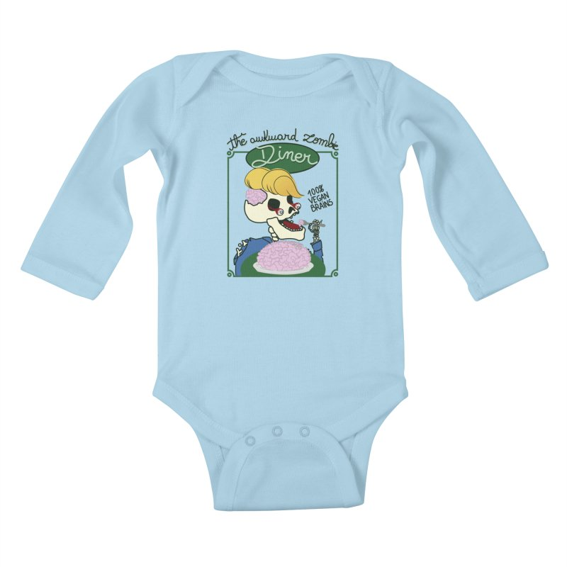 The Awkward Zombie Diner Kids Baby Longsleeve Bodysuit by Hello Siyi