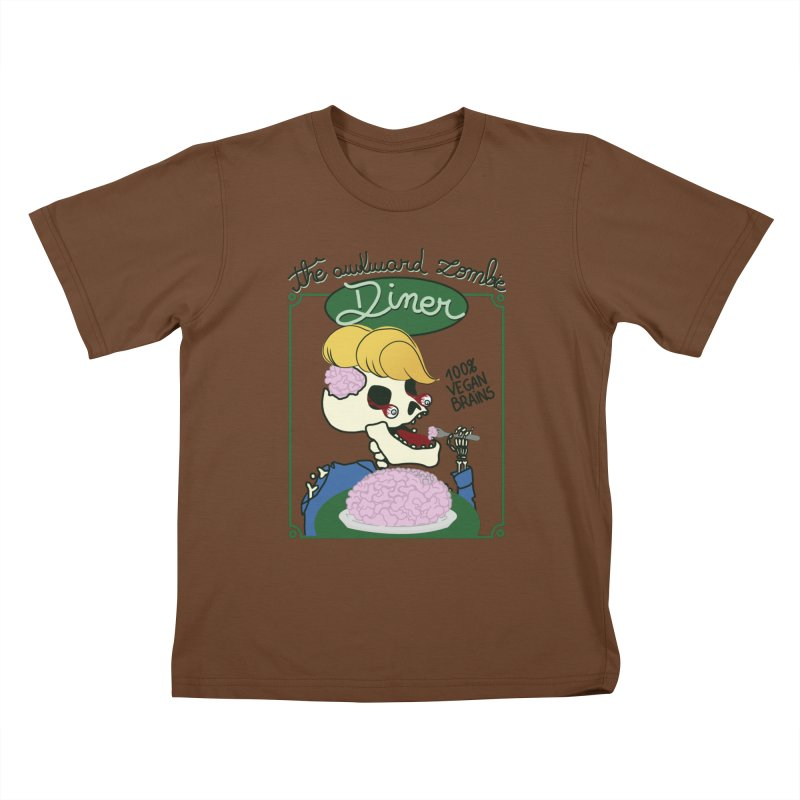 The Awkward Zombie Diner Kids T-Shirt by Hello Siyi