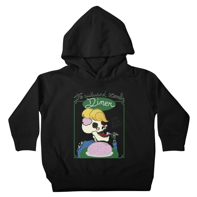 The Awkward Zombie Diner Kids Toddler Pullover Hoody by Hello Siyi